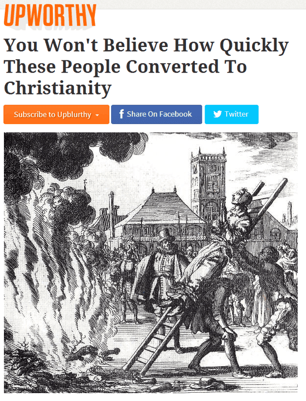 Upworthy On The Spanish Inquisition