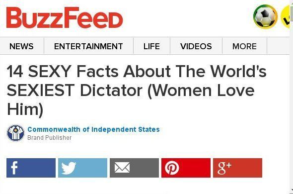 14 SEXY Facts About The World's SEXIEST Dictator (Women Love Him) Sponsored By The Commonwealth of Independent States