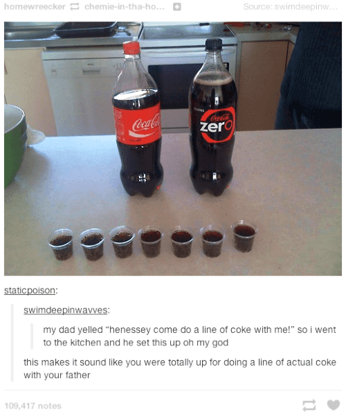 Dad Wants To Do A Line Of Coke