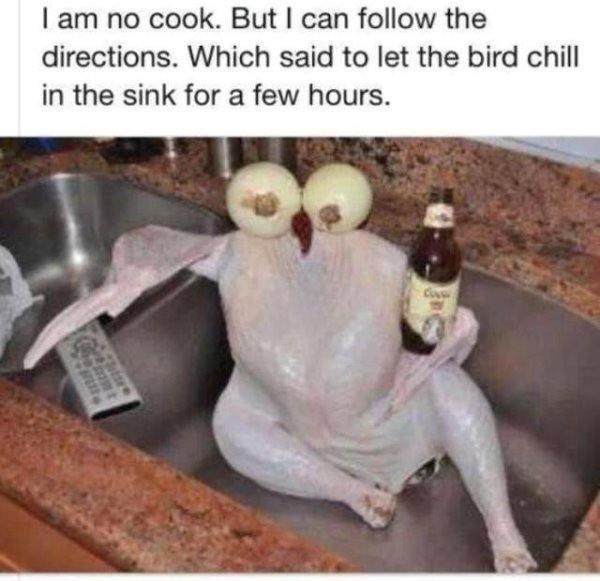 Dad Jokes Turkey Chilling