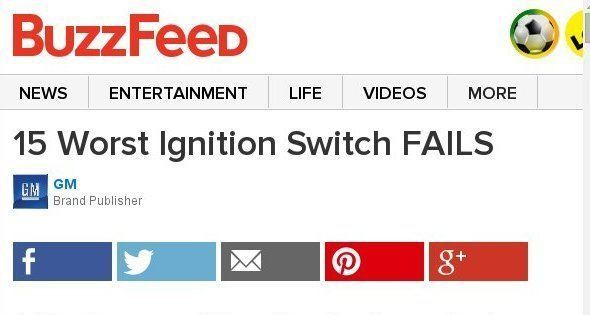 15 Worst Ignition Switch FAILS Sponsored By GM