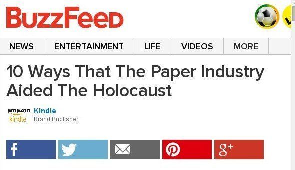 10 Ways That The Paper Industry Aided The Holocaust Sponsored By Kindle