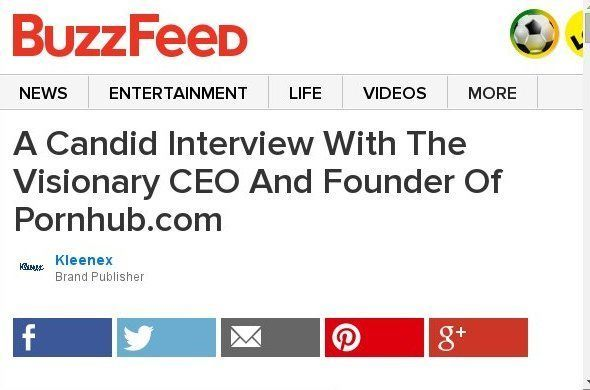 A Candid Interview With The Visionary CEO And Founder Of Pornhub.com Sponsored By Kleenex