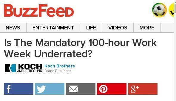 Is The Mandatory 100-hour Work Week Underrated? Sponsored By The Koch Brothers