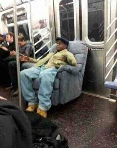 La Z Boy On The Subway