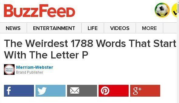 The Weirdest 1788 Words That Start With The Letter P Sponsored By Merriam-Webster