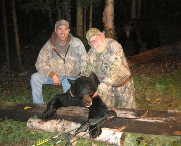 Bear Sneaks Up On Hunters