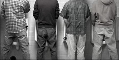 How many jumping jacks can you do while standing at a crowded urinal?