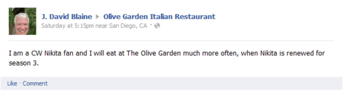 Nikita At Olive Garden