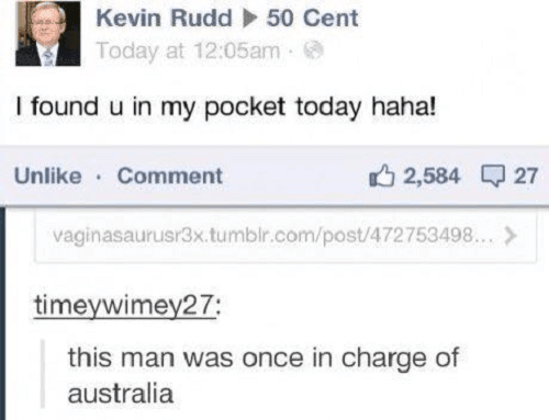 Once In Charge Of Australia