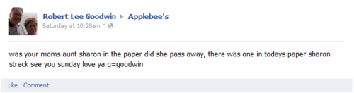 Sharon and Applebees