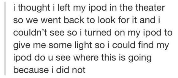 Tumblr Moments Lost iPod