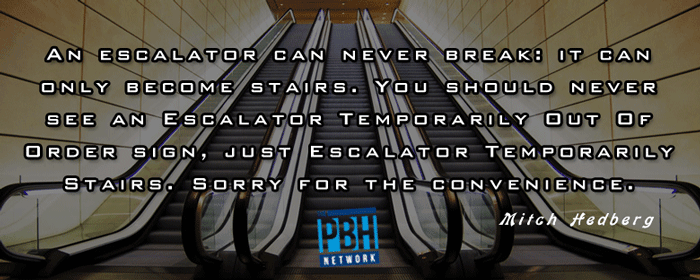 An Out Of Service Escalator