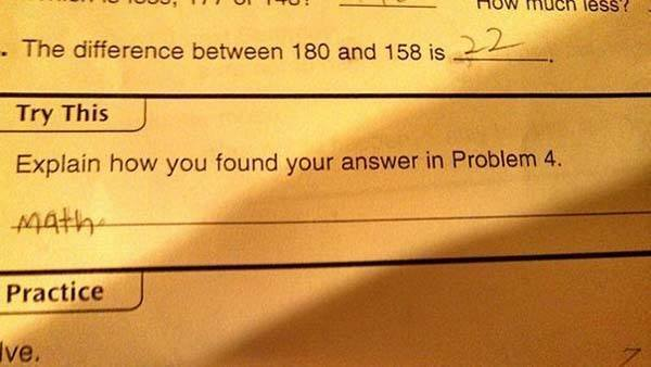 Genius Test Answers Math