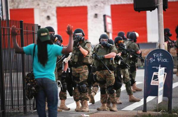 Militarized Police In Ferguson Missouri