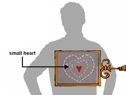 small heart xray