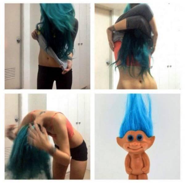 Turning Into A Troll Doll