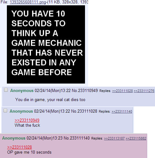 4Chan Posts Game Mechanism Idea
