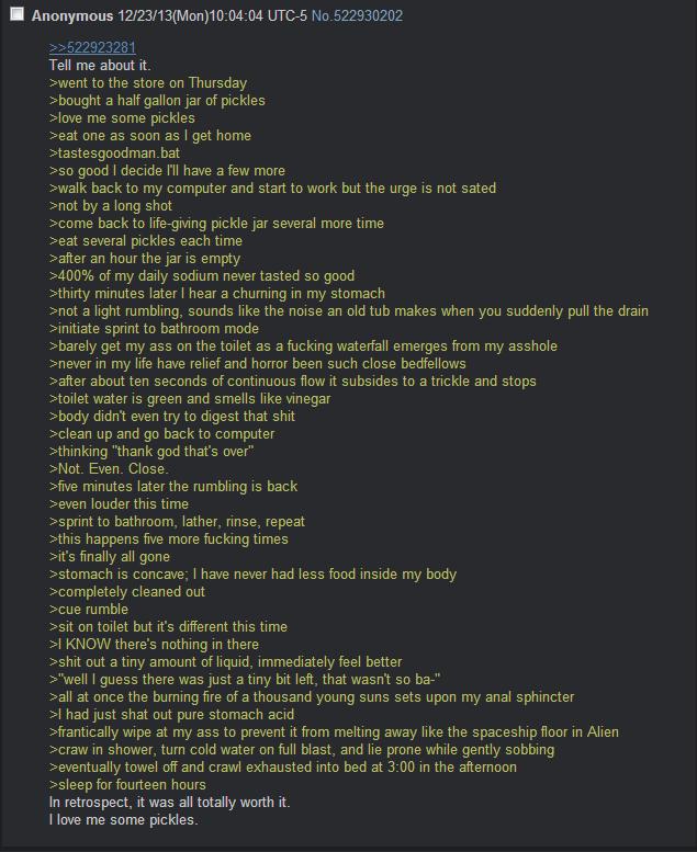 Anon Loves Pickles