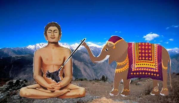 buddhist-and-elephant