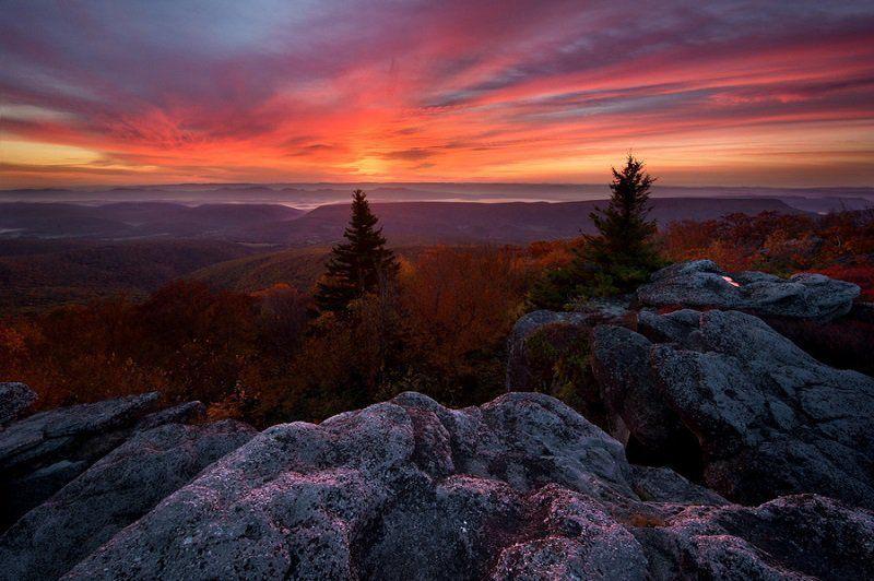 colorful-fall-photos-autumn-sunrise-bear-rocks