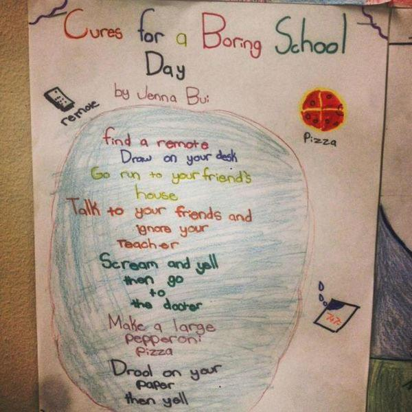 Cures For A Boring School