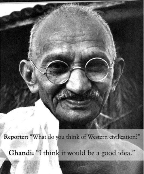 Gandhi On Western Civilization