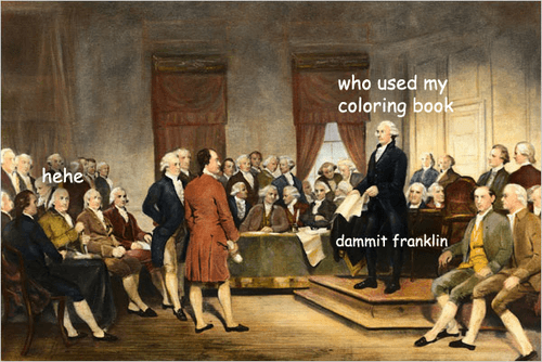 George Washington Meme Coloring Book