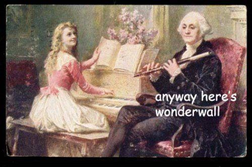 George Washington Meme Wonderwall