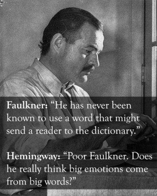 Hemingway And Faulkner Comebacks
