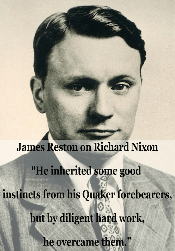 James Reston Quote