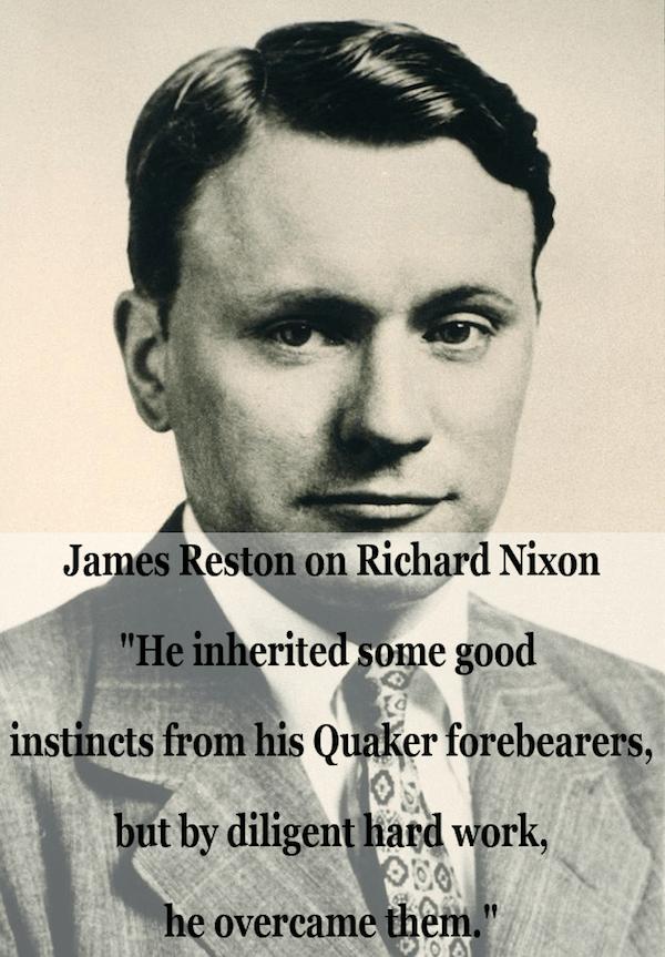 James Reston Quote