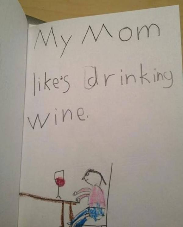 Mom Likes Drinking Wine