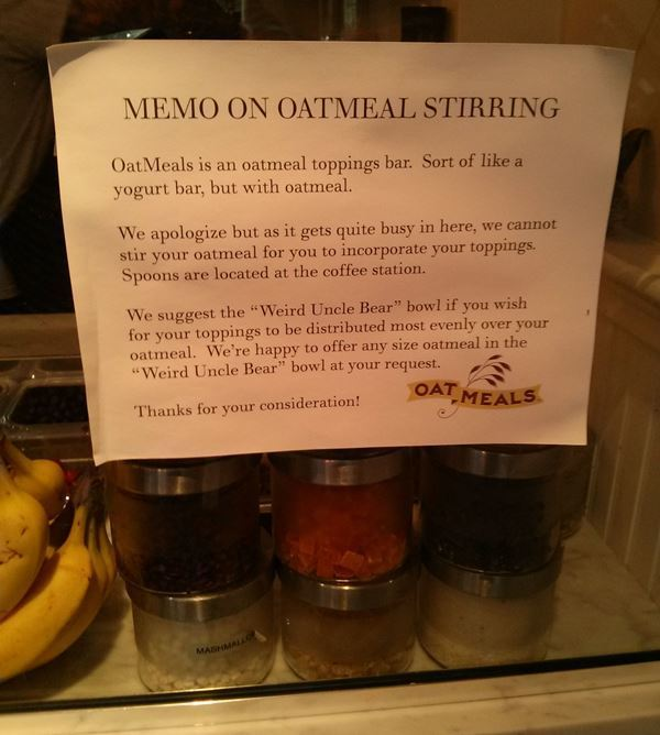 Oatmeal Stirring