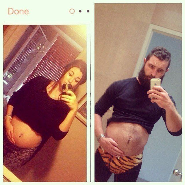 Pregnant Tinder Photo