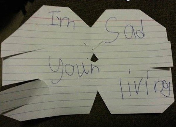 Sad You Are Living Funny Kids Notes