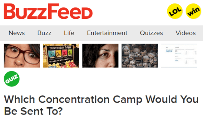 Buzzfeed Quizzes Concentration Camp