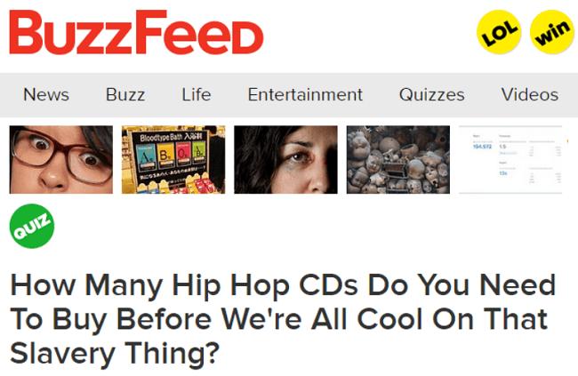 Buzzfeed Quizzes Slavery