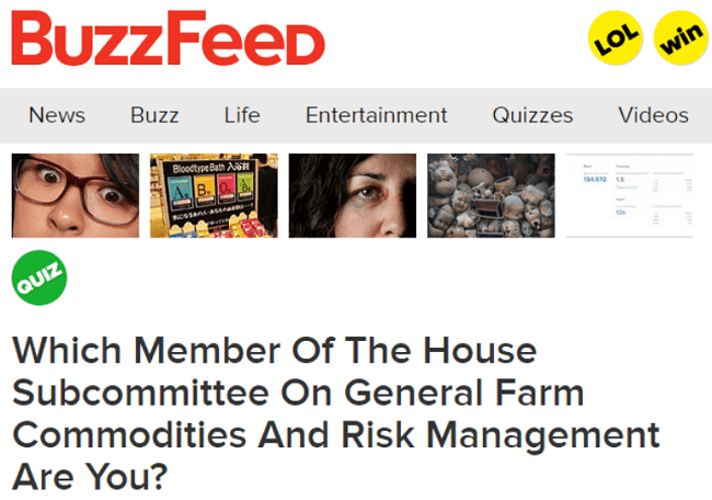 Buzzfeed Quizzes That Didn't Go Viral