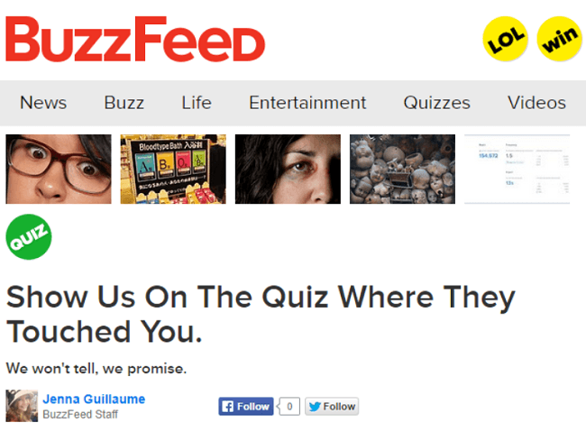 Buzzfeed Quizzes Where Did They Touch You