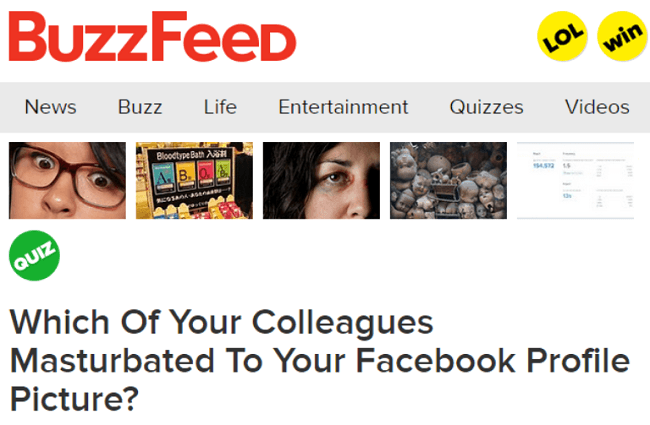 Buzzfeed Quizzes Which Colleagues Masturbated To Your Facebook Profile