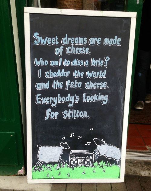 Funny Signs Cheese Store