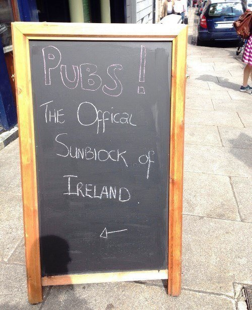 Pubs The Sunblock Of Ireland