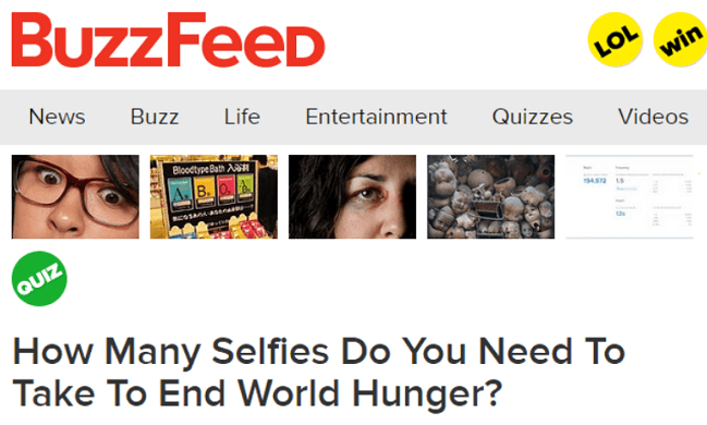 Selfies To End World Hunger