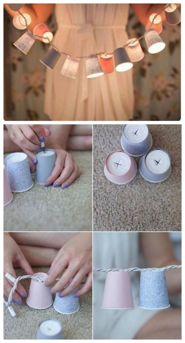 diy projects dixie cup lights