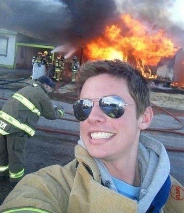 Firefighter Selfie
