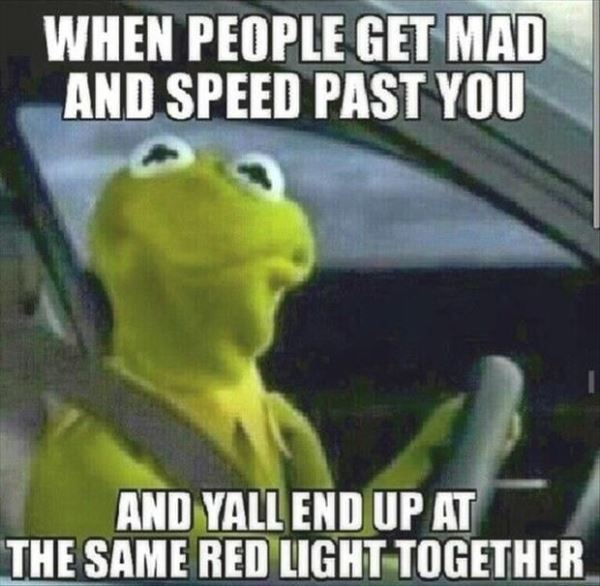People Speed Past You