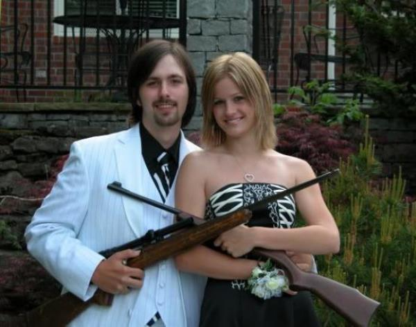 Prom Photo Fails Guns