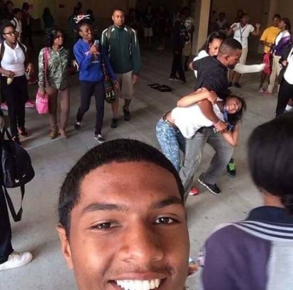 School Fight Selfies