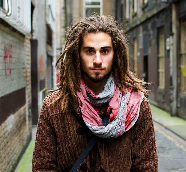Serious White Guy With Dreads
